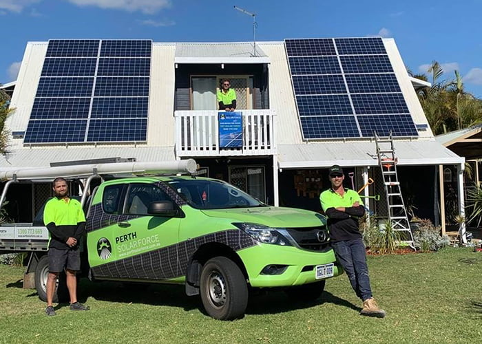 Team Members of Perth Solar Force installing the quality Solar Panels in Perth