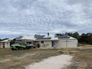 Perth Solar Force's member and Solar Power Panels