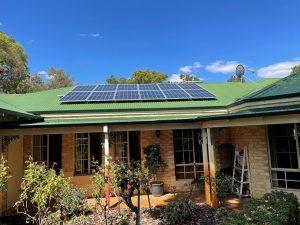 Solar Panels on cozy one floot house